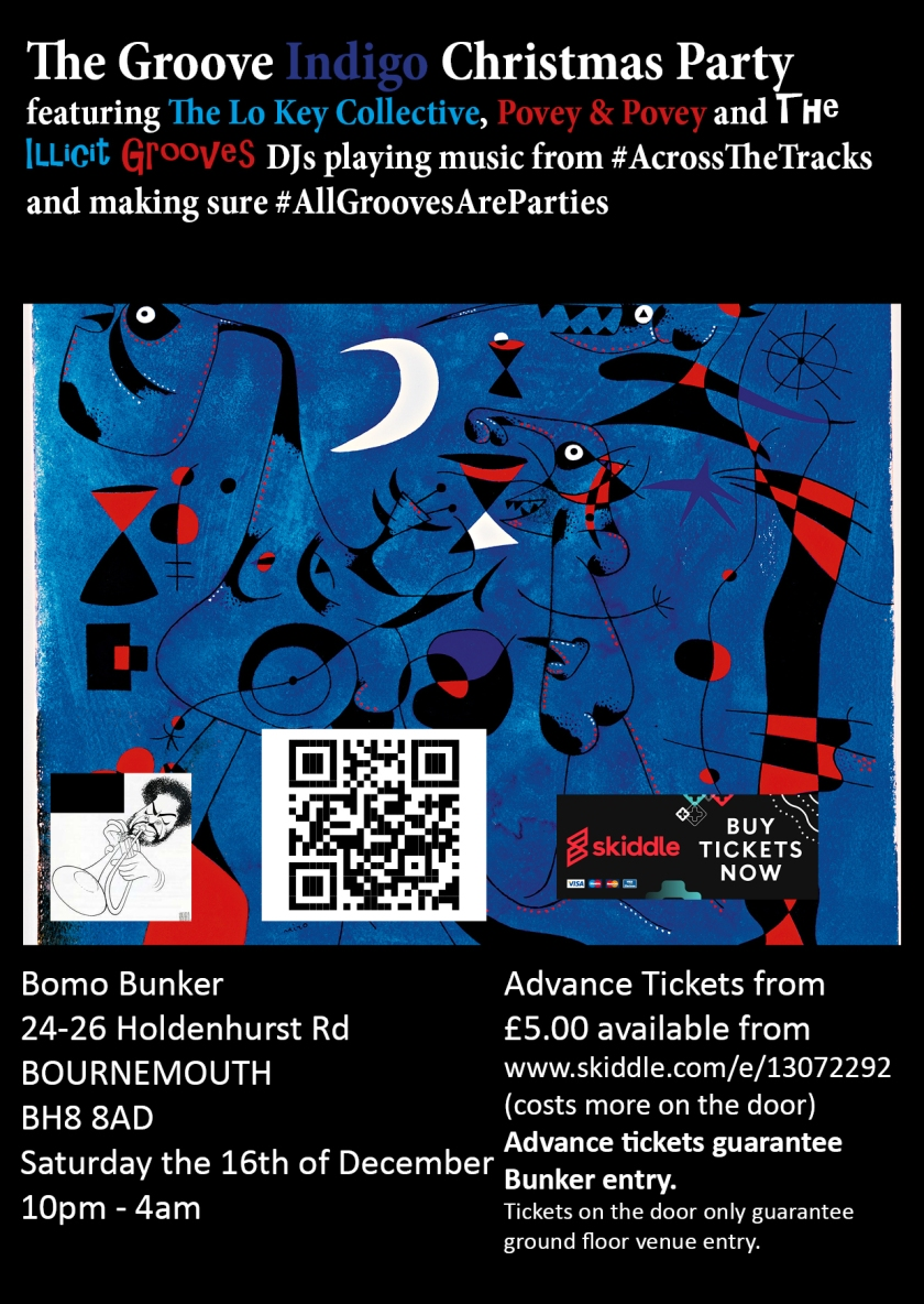 Groove Indigo Christmas Party A6 flyer